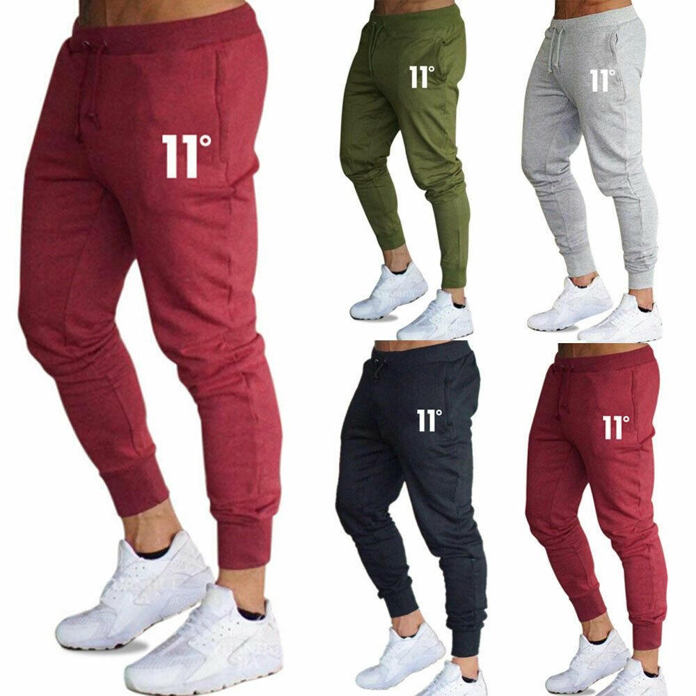 Men Stretch Jogger Slim Fit Trousers Harem Gym Sports Sweatpants Track Pants