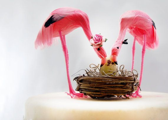 pink flamingo baby shower cake topper tropical mom by beckykazana