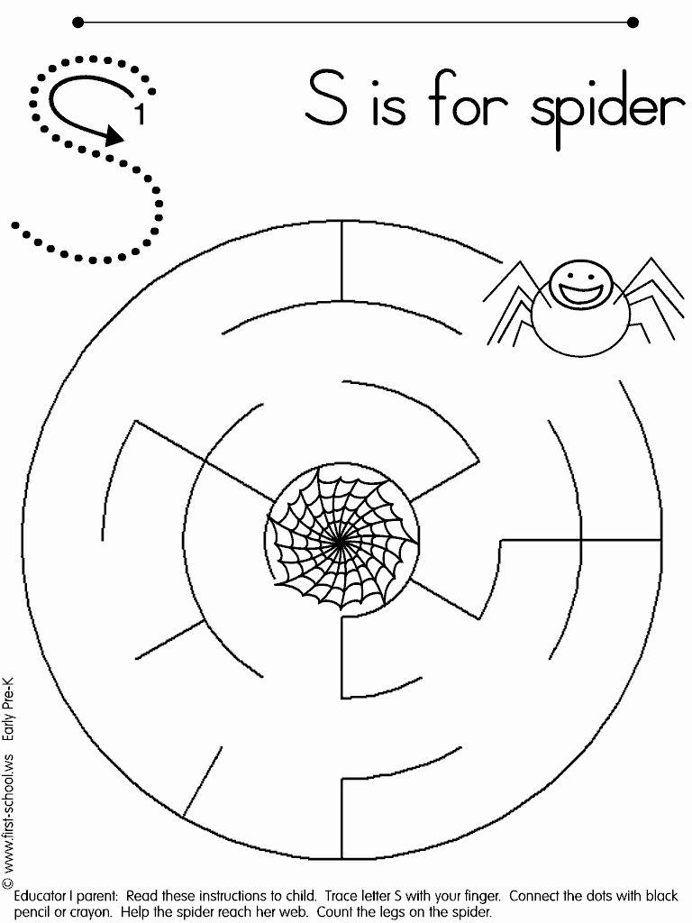 Kindergarten Halloween Maze Worksheet Halloween Kindergarten The Very Busy Spider Spiders Preschool [ 1024 x 768 Pixel ]