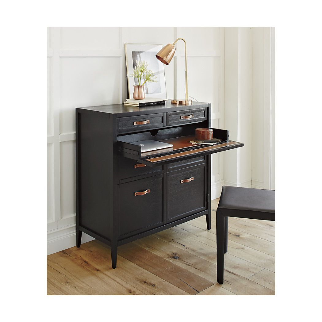 compact office furniture. Newman Compact Office Desk | Crate And Barrel Furniture