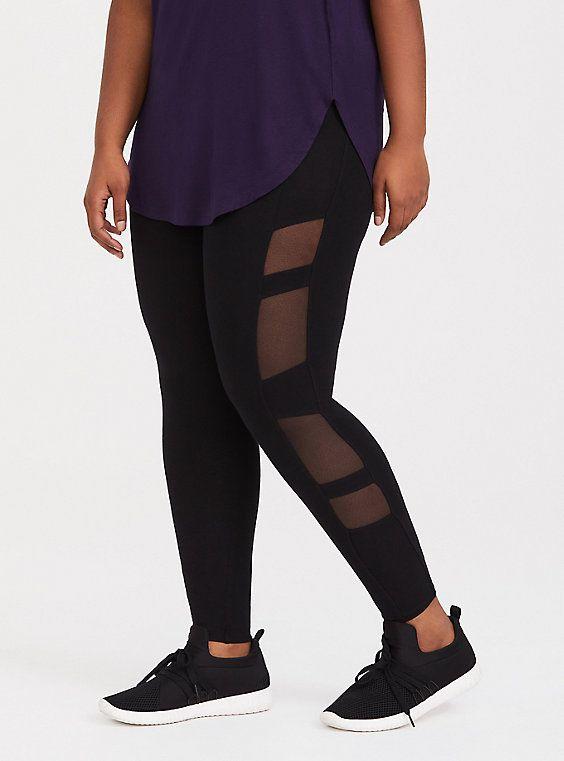873f64b16f2c8a Black Side Mesh Inset Legging. Black Side Mesh Inset Legging Discount Womens  Clothing, Plus Size Womens Clothing, Knit Leggings