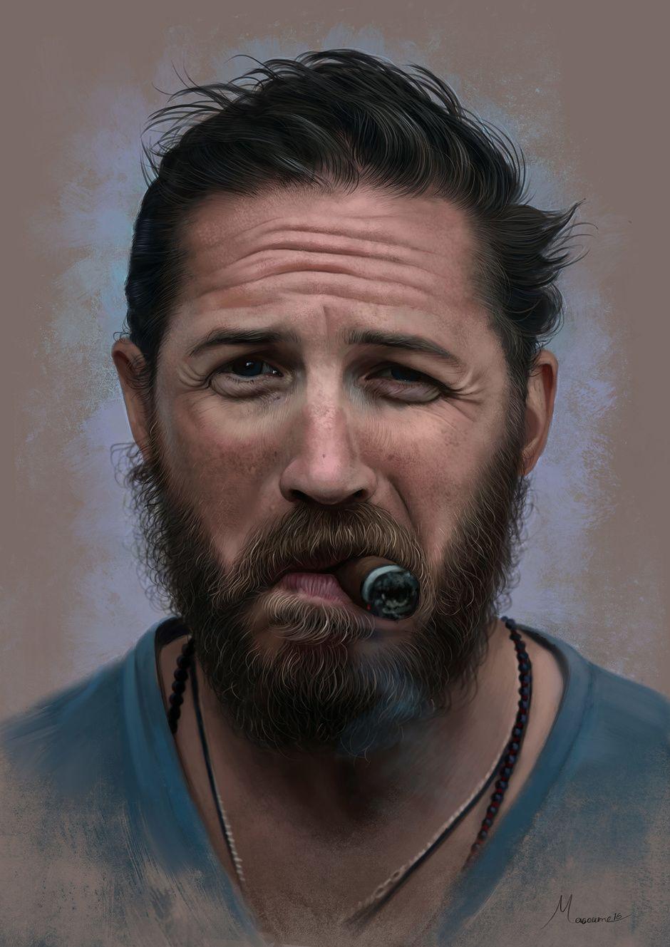 tom hardy by masoume rezaei | Portrait | 2D | CGSociety | Concept ...