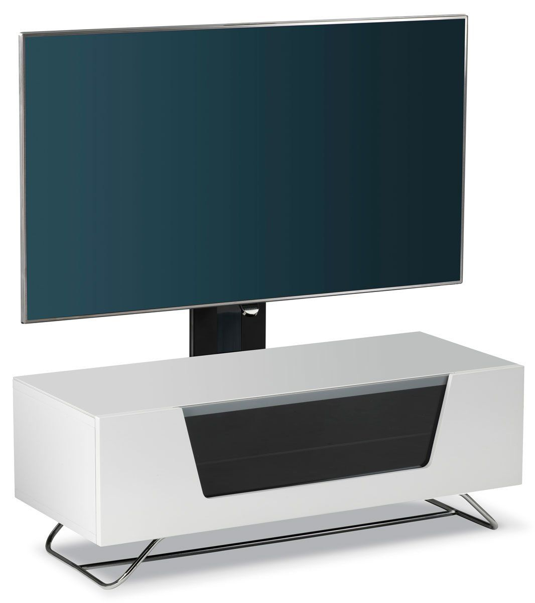 Alphason Chromium White Cantilever Tv Stand Amazon Co Uk Kitchen  # Alphason Meuble Tv
