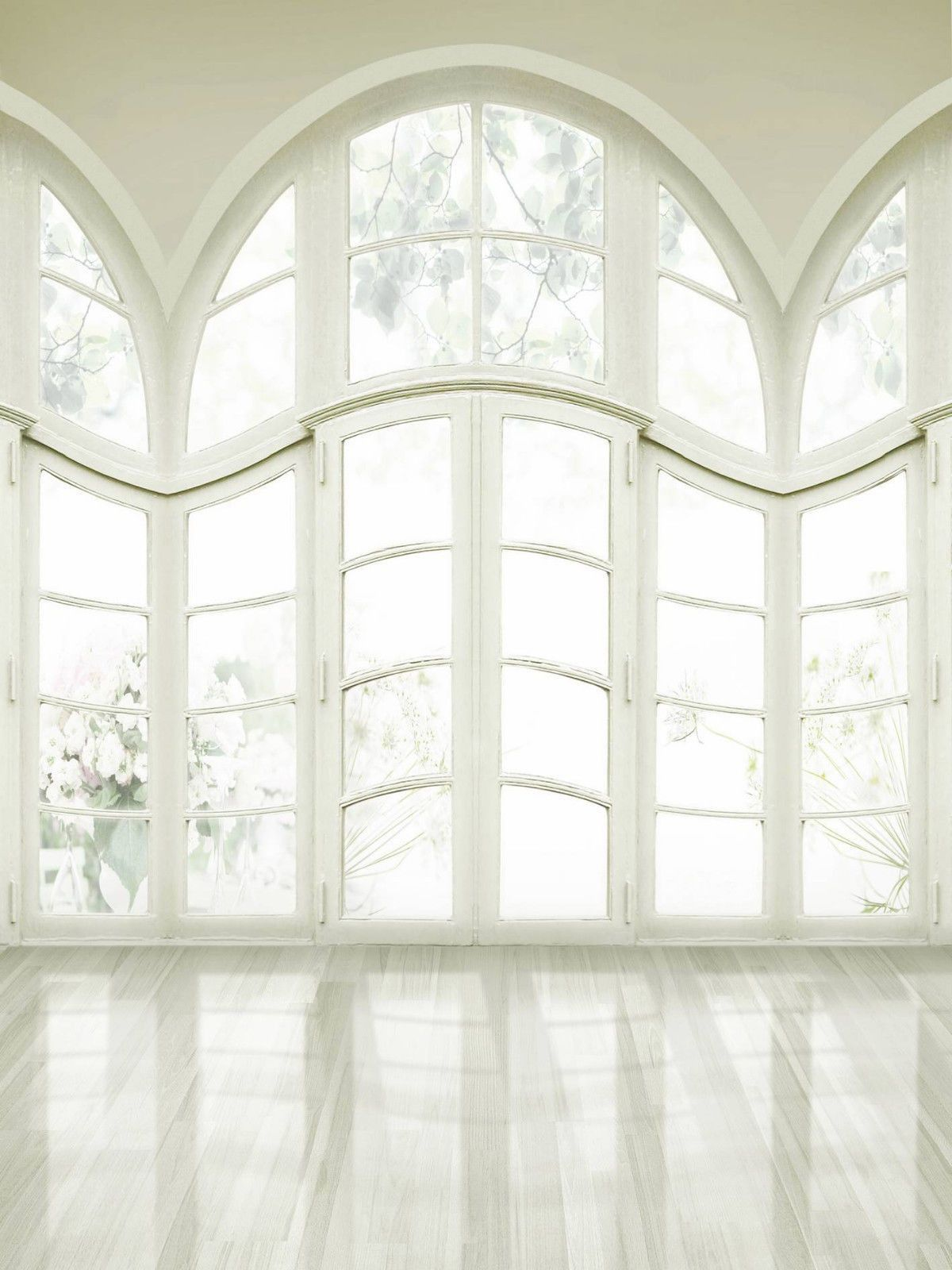 White Windows Wedding Photography Studio Backdrop 10x20