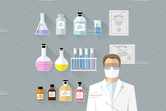 Vector set - chemical objects by Sunny on @creativemarket