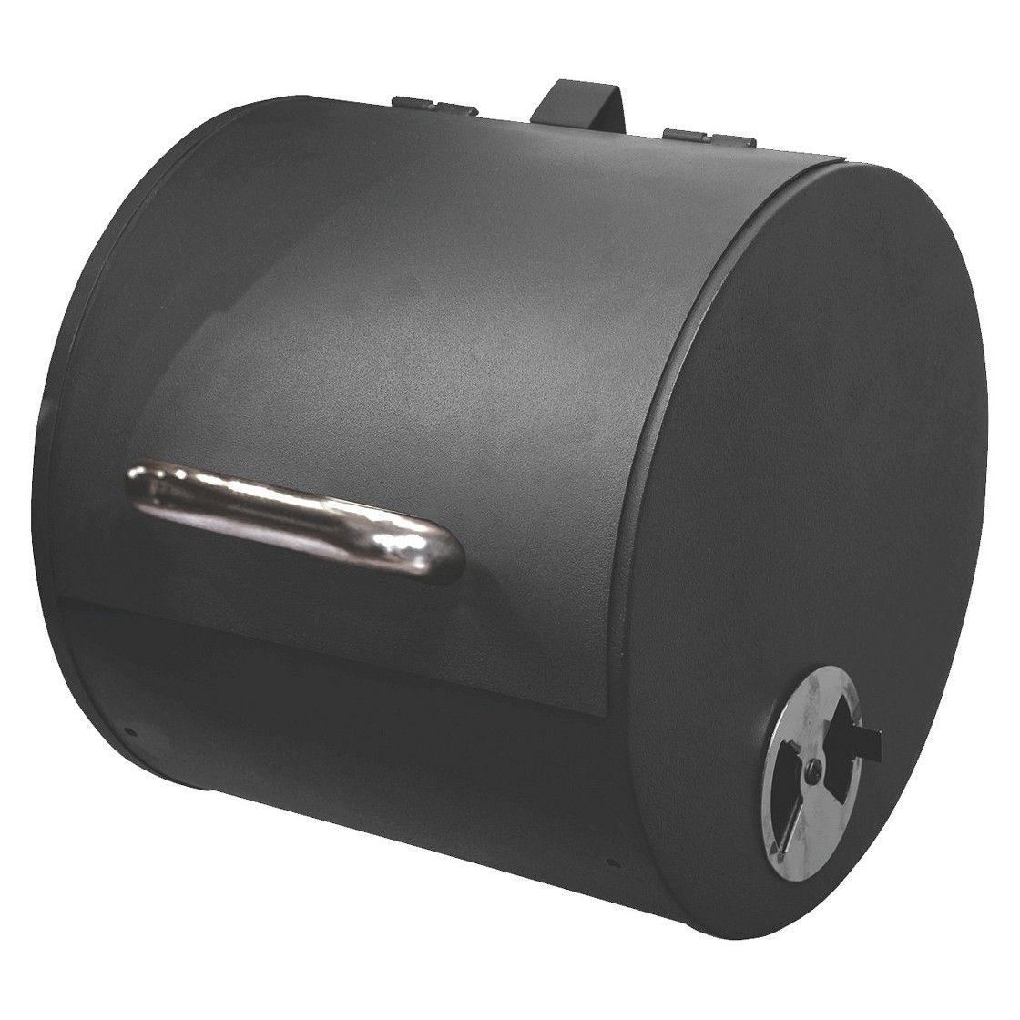 Charbroil side smoker box w chrome handle chrome