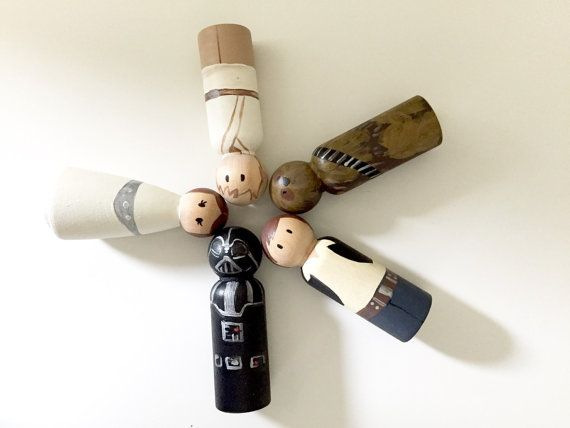 star wars peg dolls star wars toy star wars by LeggyBlondeShop