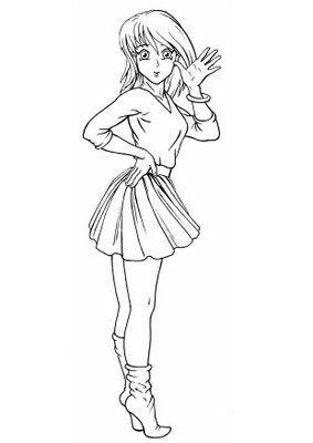Desenhos Para Colorir De Mangas E Animes Imagens Imprimir E
