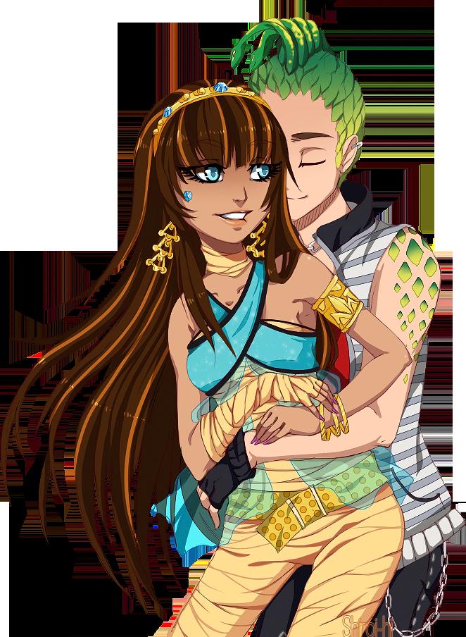MH:Cleo and Deuce by Shiroi-hi.deviantart.com on @deviantART