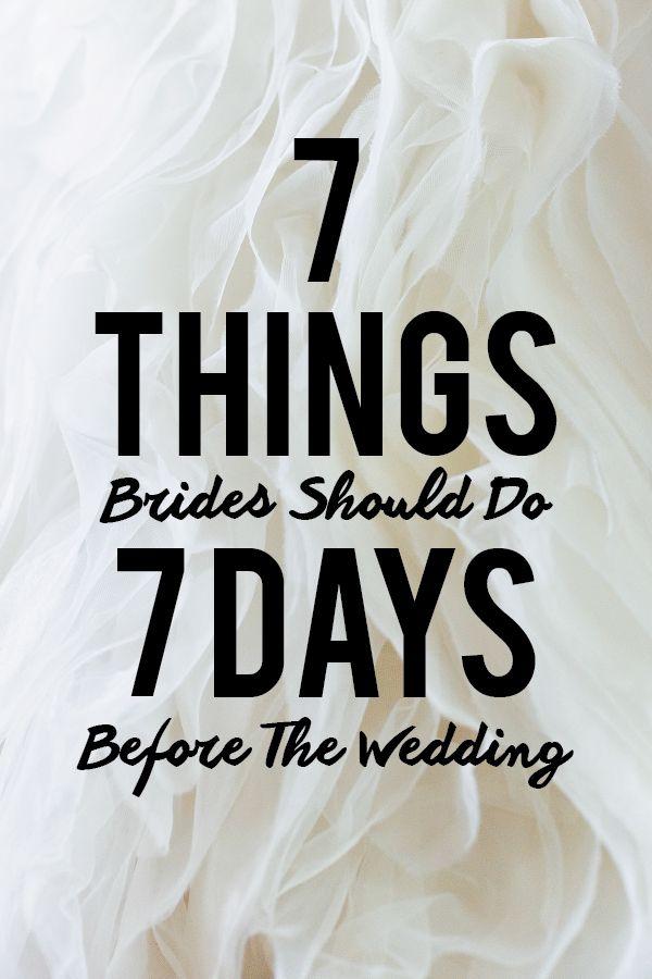 Wedding Week Checklist Wedding Week Wedding Countdown Wedding Beauty