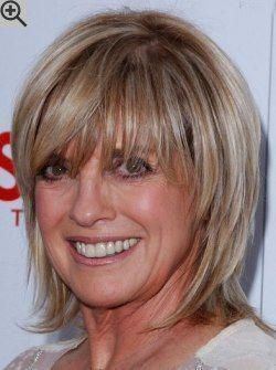 hairstyles with bangs for fine hair over 50 older women 55