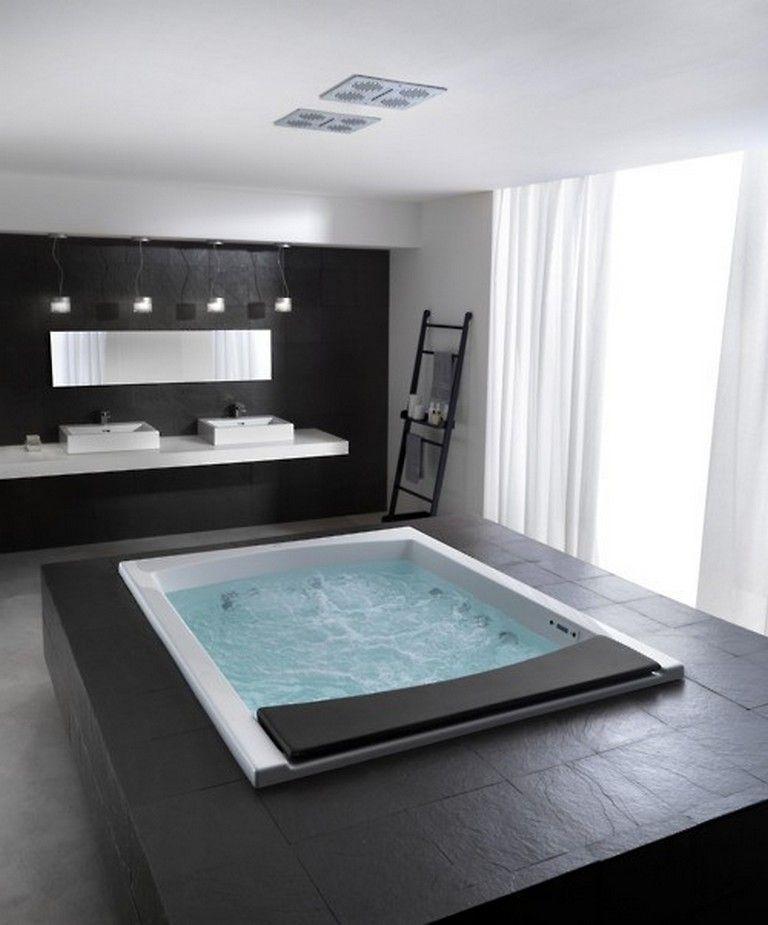 35 Admirable Black Bathroom Ideas Bathroomideas Bathroomdecor Bathroomdesign Black Bathroom Bathroom Design Bathroom Interior