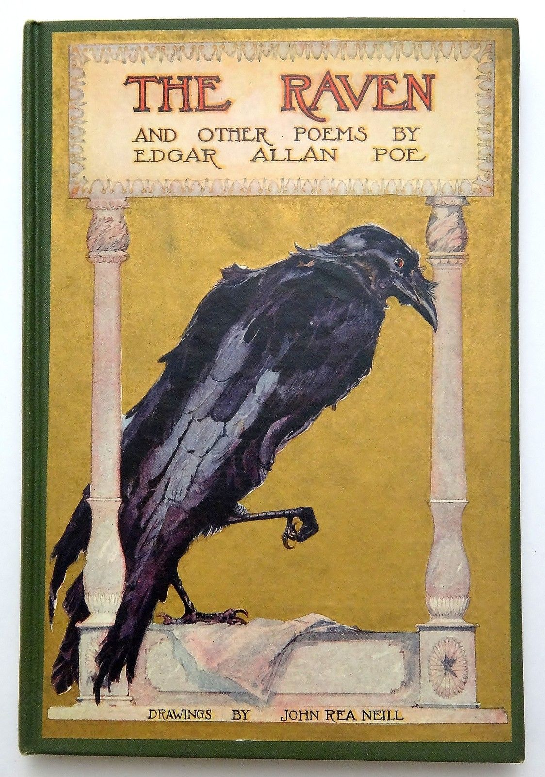 1910 Edgar Allan Poe The Raven Other Poem Book Cover Poetry By