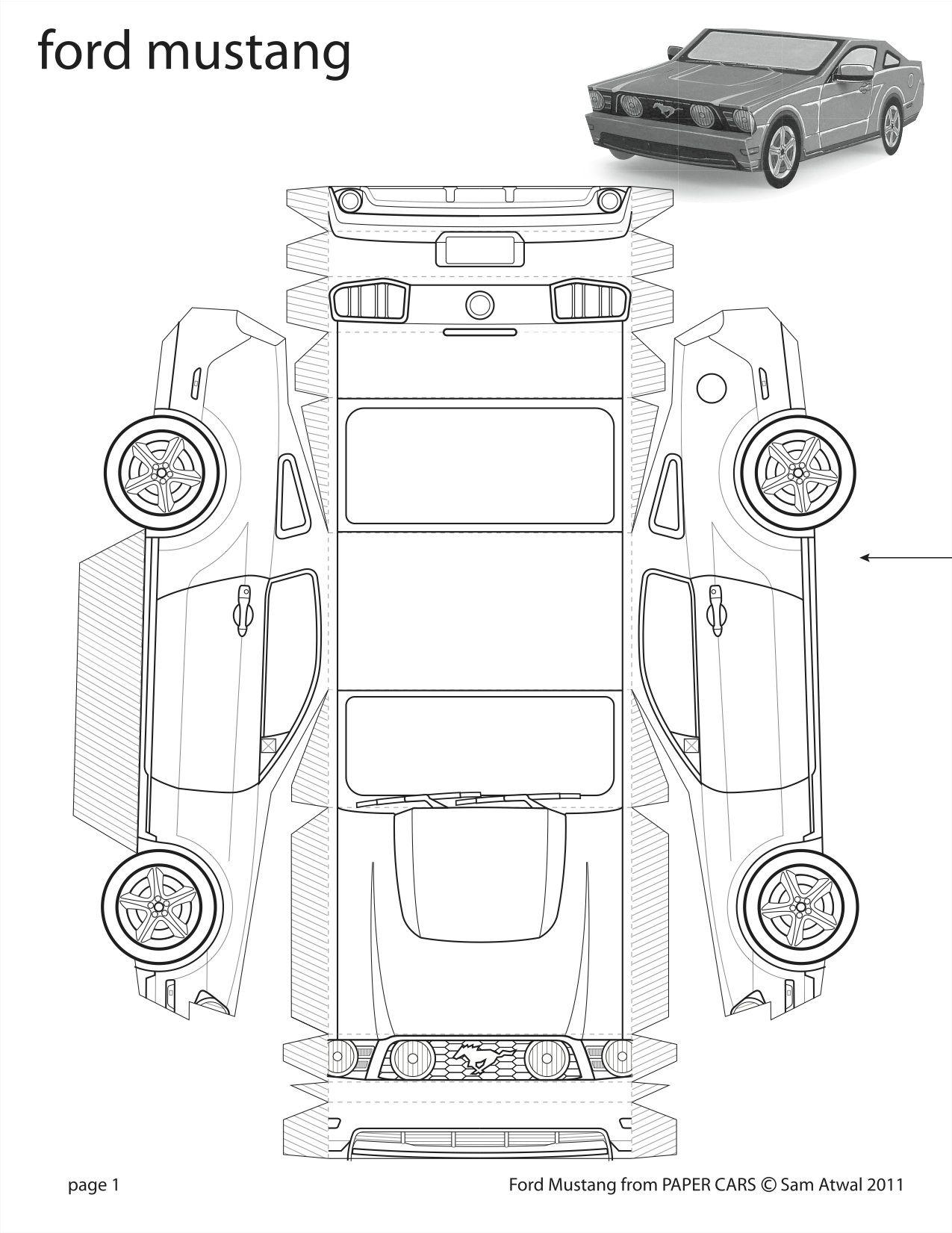 how to make a diecast cardboard car