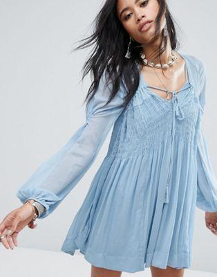 e5f52b9743fb4 Free People Lini Smocked Mini Dress