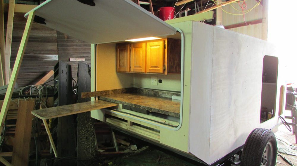 DIY Micro Camping Trailer I Built for 2900 Small