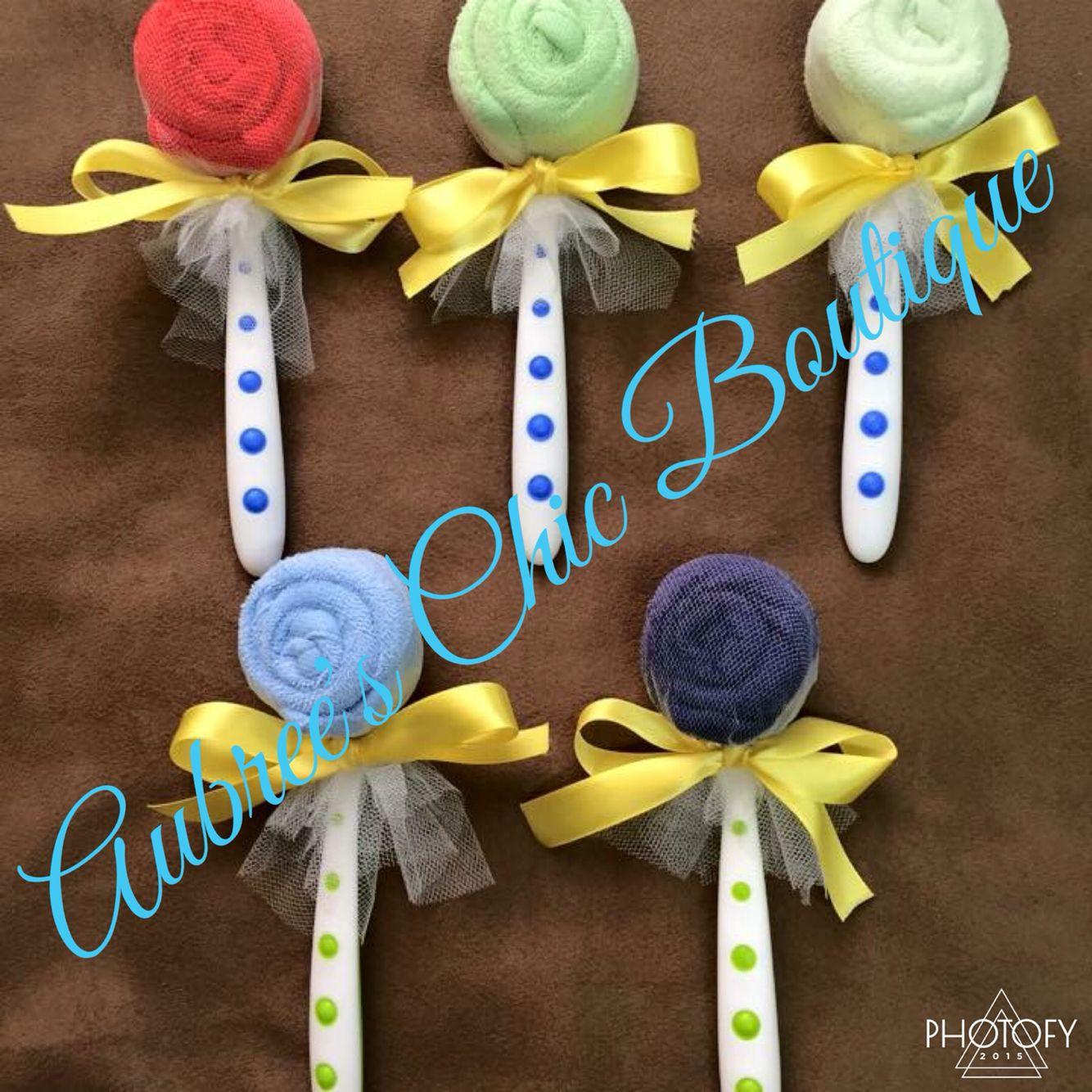 Baby Shower Lollipops Crafts Diy Ts Spoons Washcloths