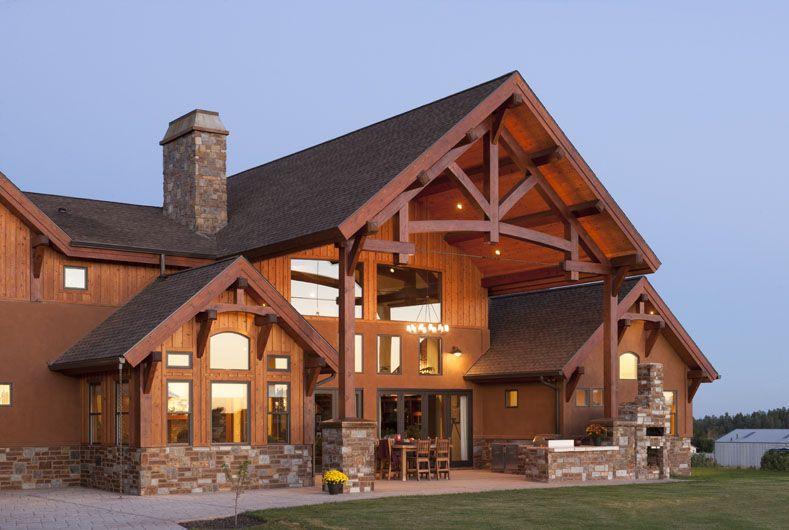 Timber frame homes arizona timber frame home show for Timber frame exteriors