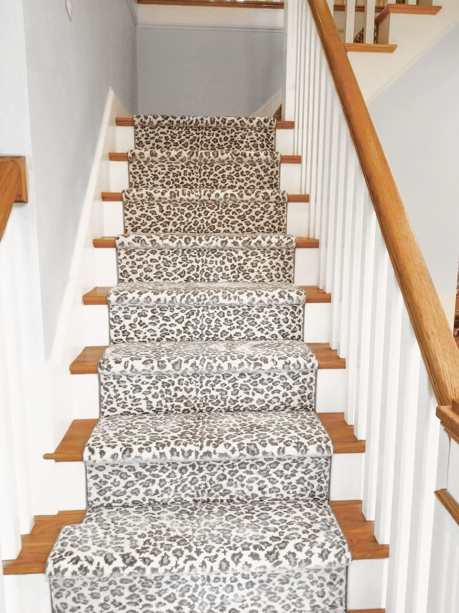Interested In Installing An Animal Print Stair Runner Stair | Stair Carpets Near Me | Basement | Diamond Pattern | Wall To Wall | Berber | Stylish