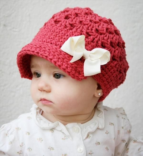 a3866f3b6d0 Baby  Girls  Crochet Hat  Pattern - 10 Easy Crochet Hat Patterns for  Beginners