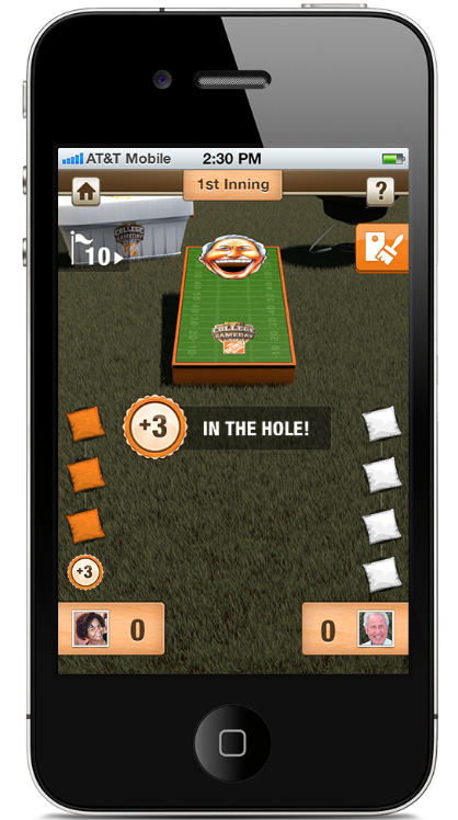 Download the new Corso's Cornhole Challenge iPhone app and