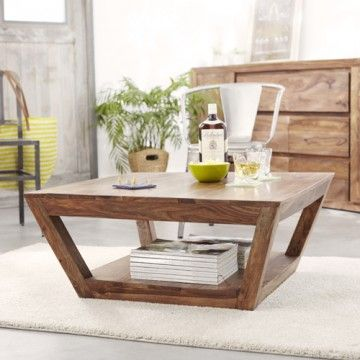 Table basse en palissandre tables basses 80x80 villa chez tikamoon table basse en bois