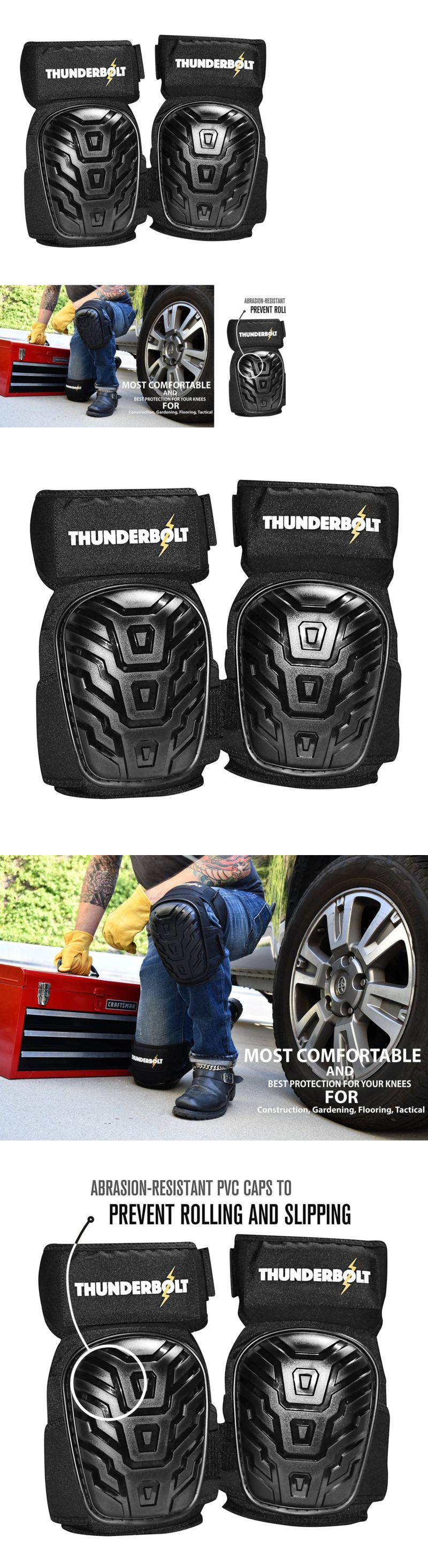 Gloves and pads professional hinged work knee pads gel