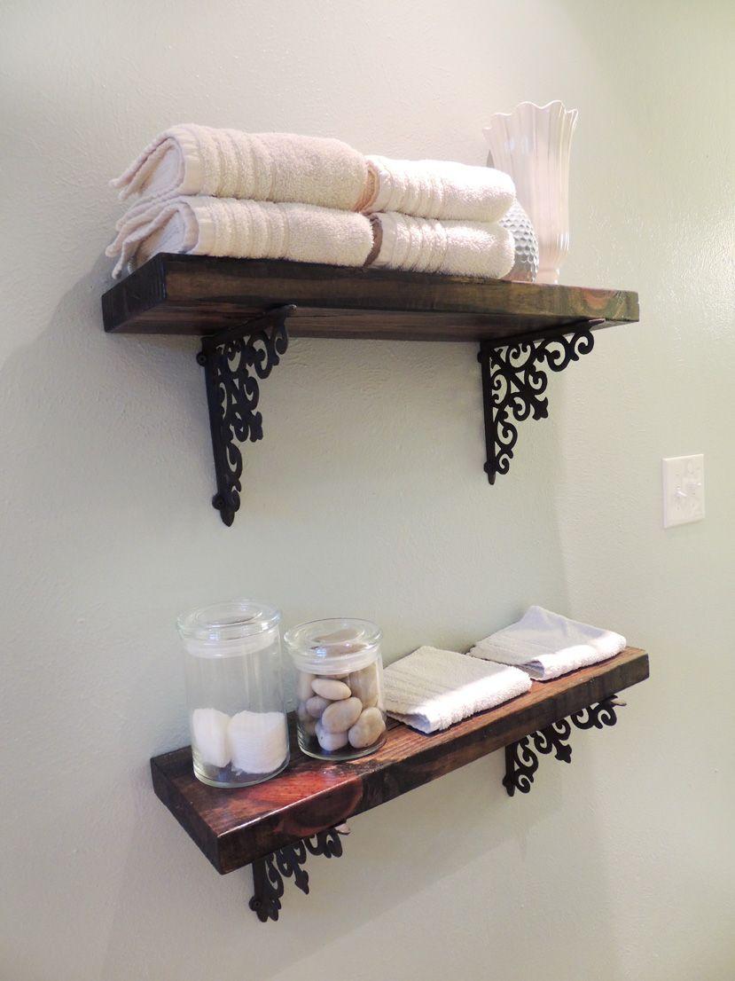 Wrought iron shelves bathroom - Shelving