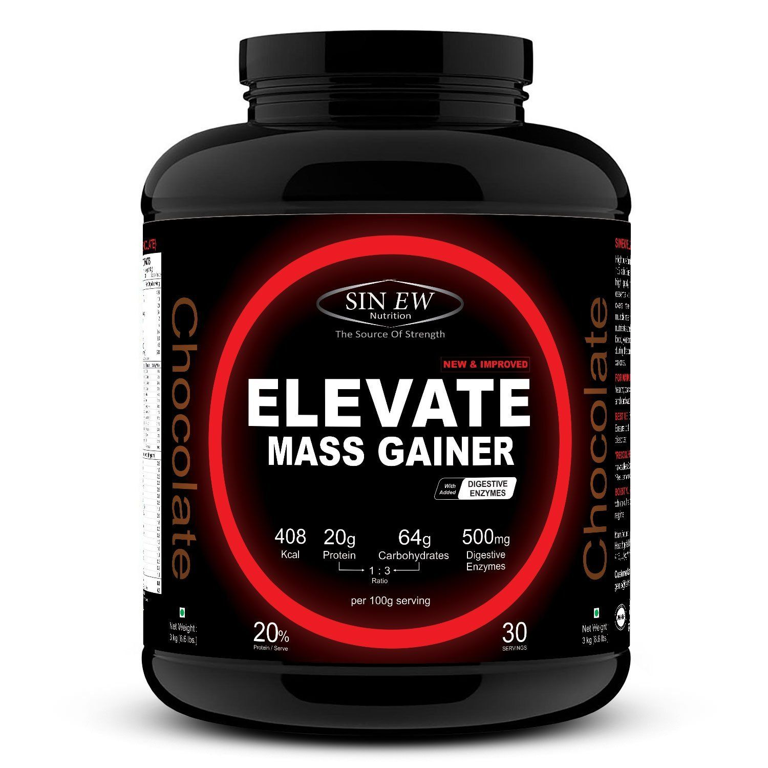 Buy Sinew Nutrition Elevate Mass Gainer 3 kg /6.6 lbs