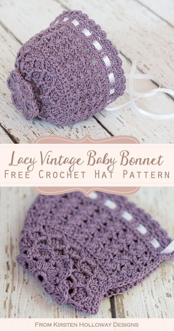 Photo of Vintage-style Lace Bonnet Free Crochet Pattern