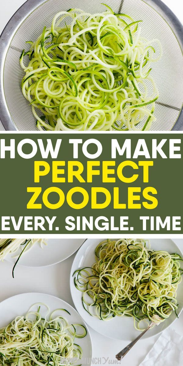How to Cook Zucchini Noodles: Ultimate Zoodles Guide Want to learn how to cook low carb ZUCCHINI NOODLES perfectly every time? Get the best tips on how to make zoodles with or without a spiralizer, freezing noodles and easy, healthy recipes under 30 minutes. recipes