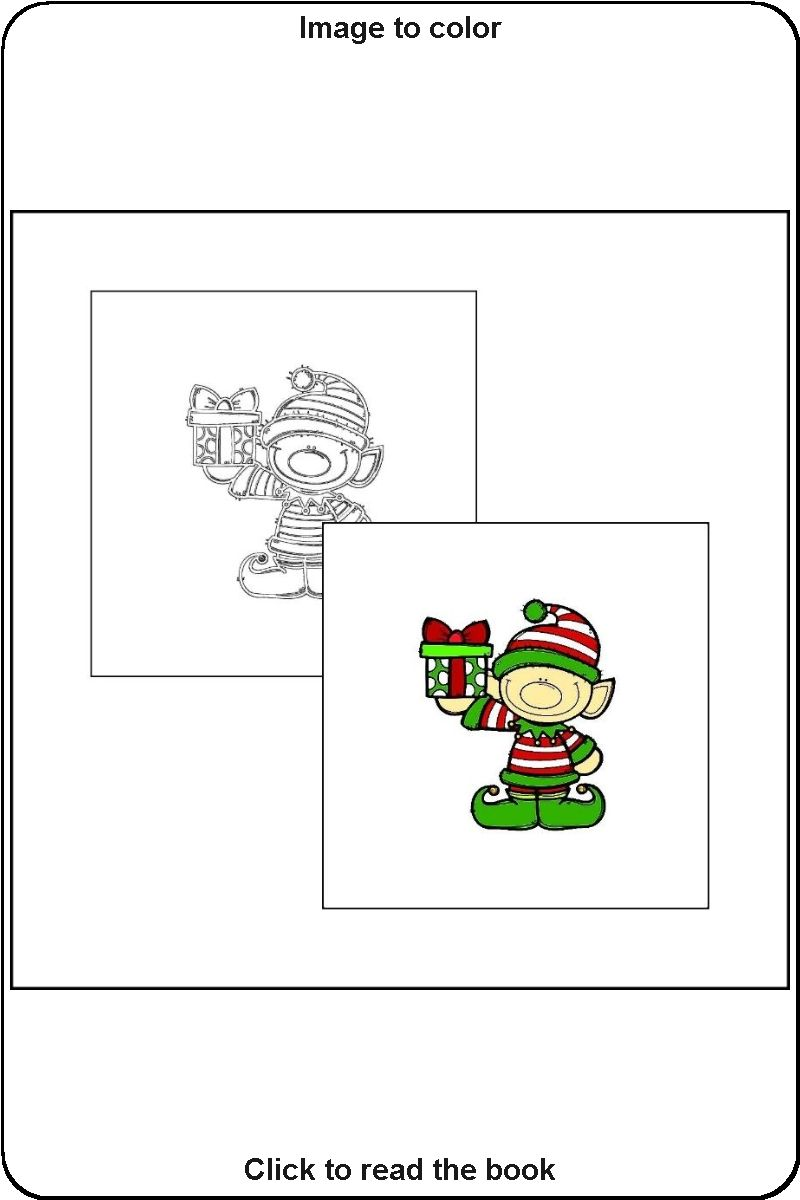 026 Sample Picture From The Book The Coloring Book With Christmas Christmas Coloring Books Coloring Books Toddler Coloring Book