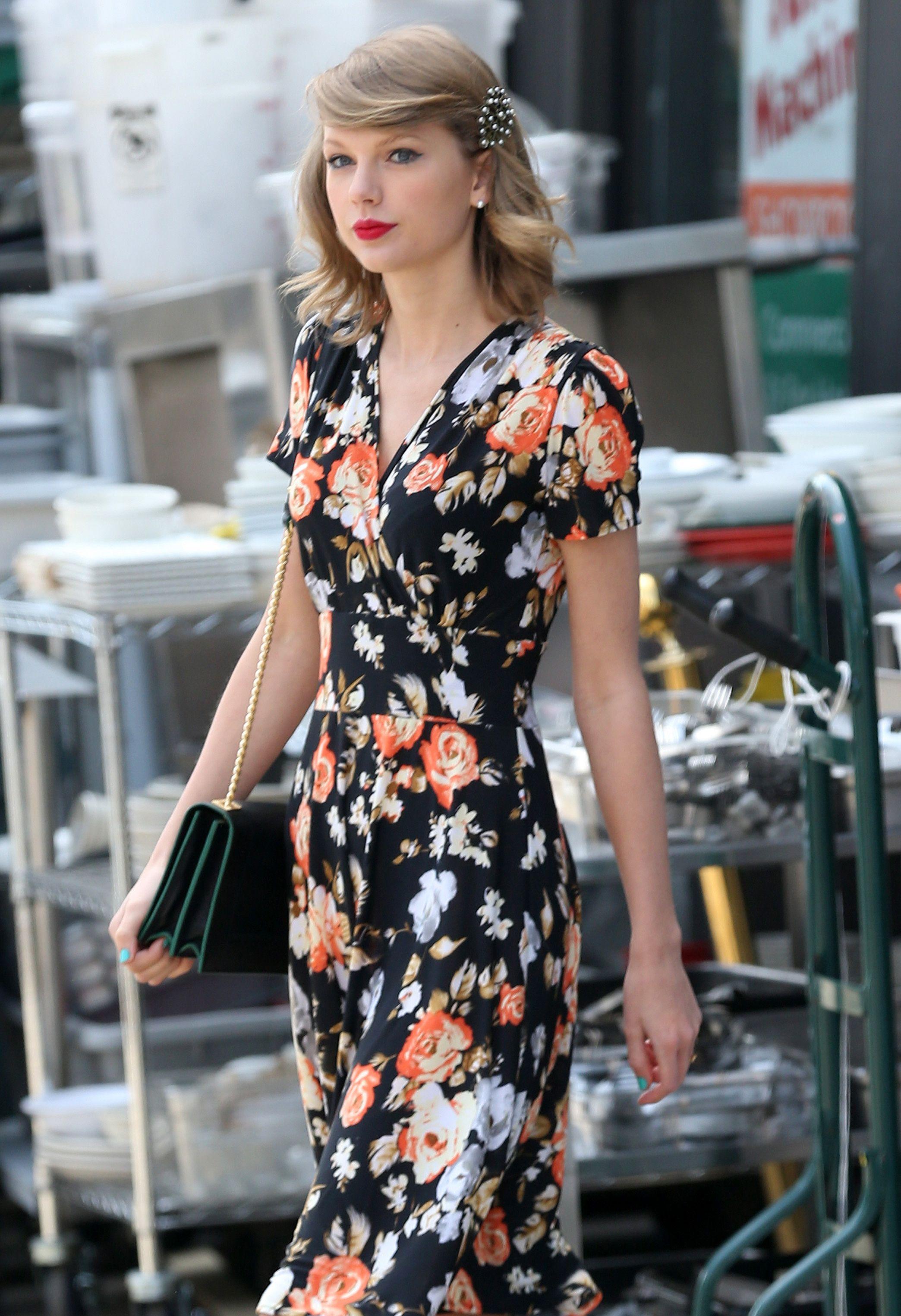 Taylor Swift Sexy Flower Dress Celebrity Celebrity Dresses 9af8fd37215