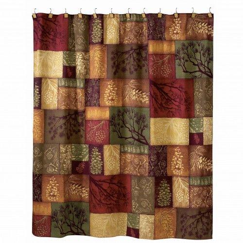 Great Adirondack Pine Cone Shower Curtain