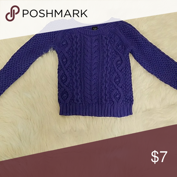 Toddler Girls Purple Sweater Size 4 Purple Knit Sweater