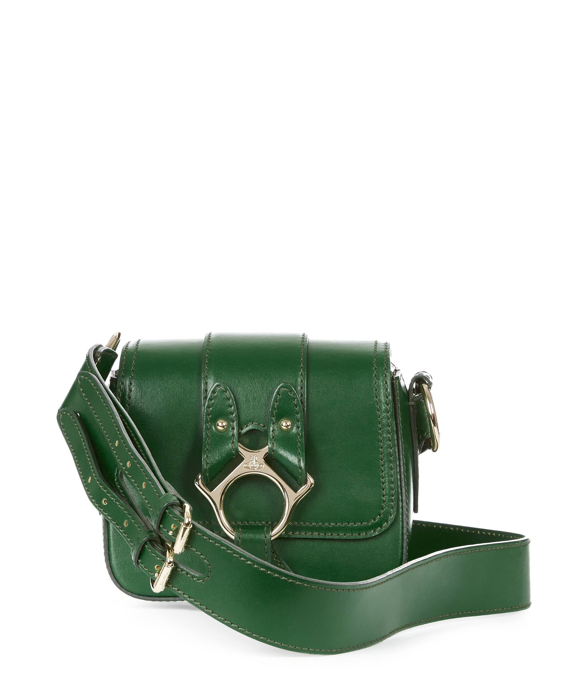 dfad5c3dfa VIVIENNE WESTWOOD Small Folly Saddle Bag 43030021 Green. #viviennewestwood # bags #leather #