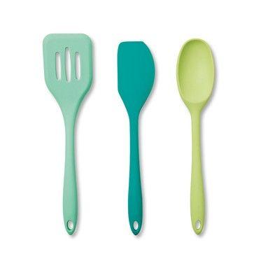 NEW Colourworks Silicone Kitchen Utensils Set Multi Colour 5 Pieces Styl PREMIUM