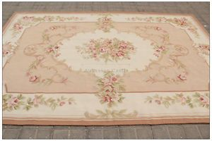 Details About 8x10 Shabby French Chic Aubusson Rug Light