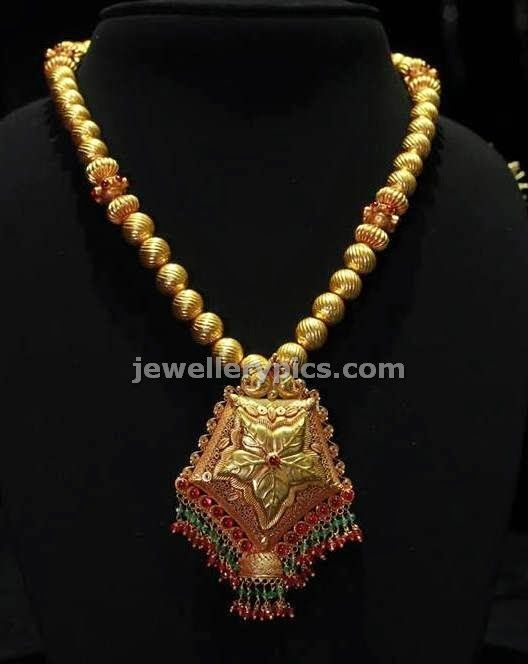 Single Row Gundla Mala By Kalyan Jewellers Latest Jewellery Designs Black Beaded Jewelry Stylish Jewelry Classic Jewelry