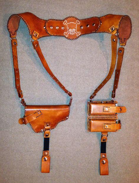 Shoulder Holster Pattern Pdf : shoulder, holster, pattern, Tandy, Leather, Shoulder, Holster, Basic, Tools, Leather,