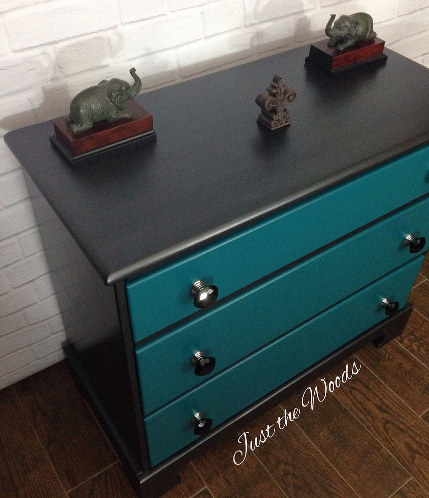 Best Black Teal Painted And Stenciled Dresser Teal Painted 400 x 300