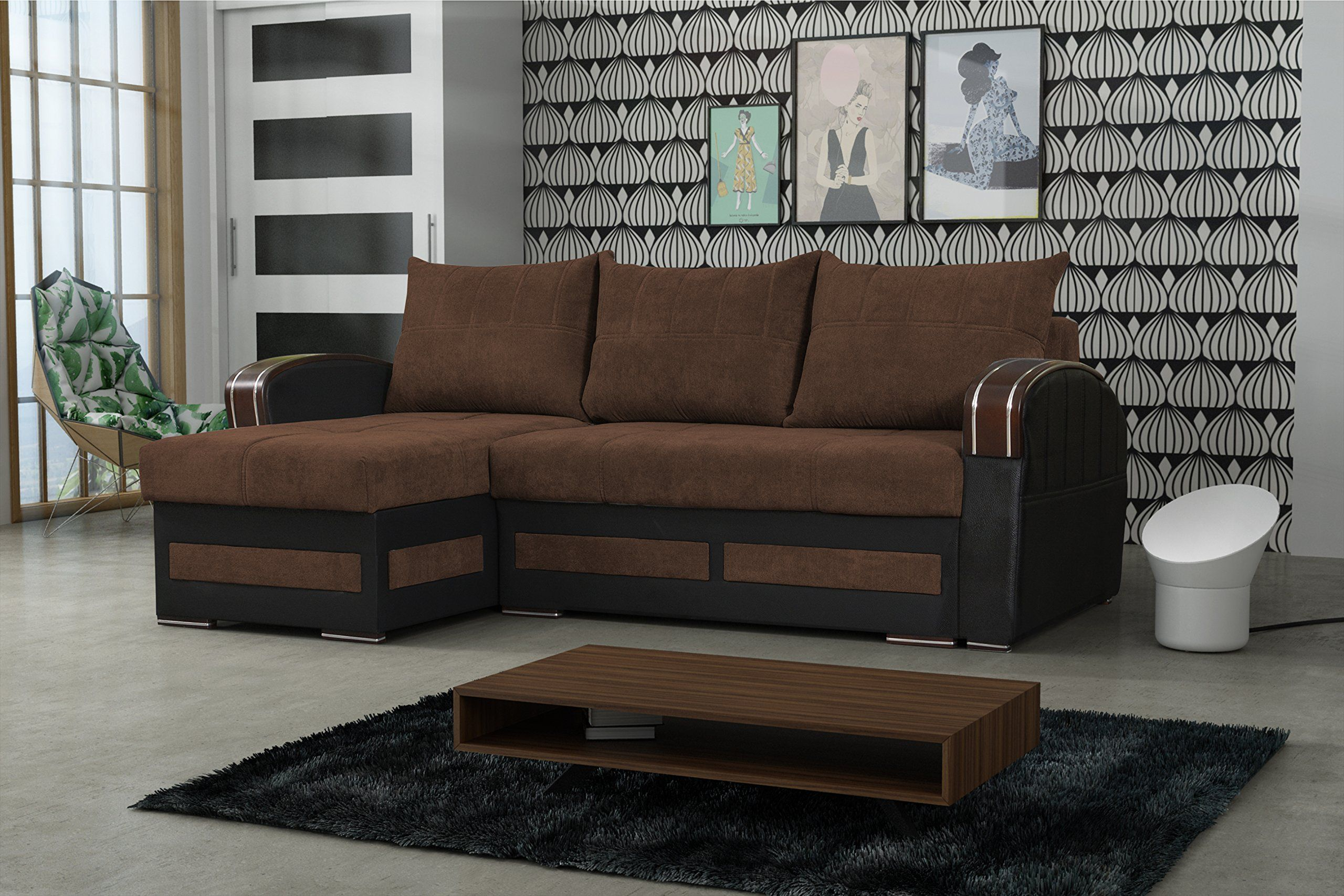 Sofa Bed Sectional Tommy Brown Click The Image For Extra Information This Is An Affiliate Link In 2020 Sofa Bed With Storage Luxury Sofa Sofa Home