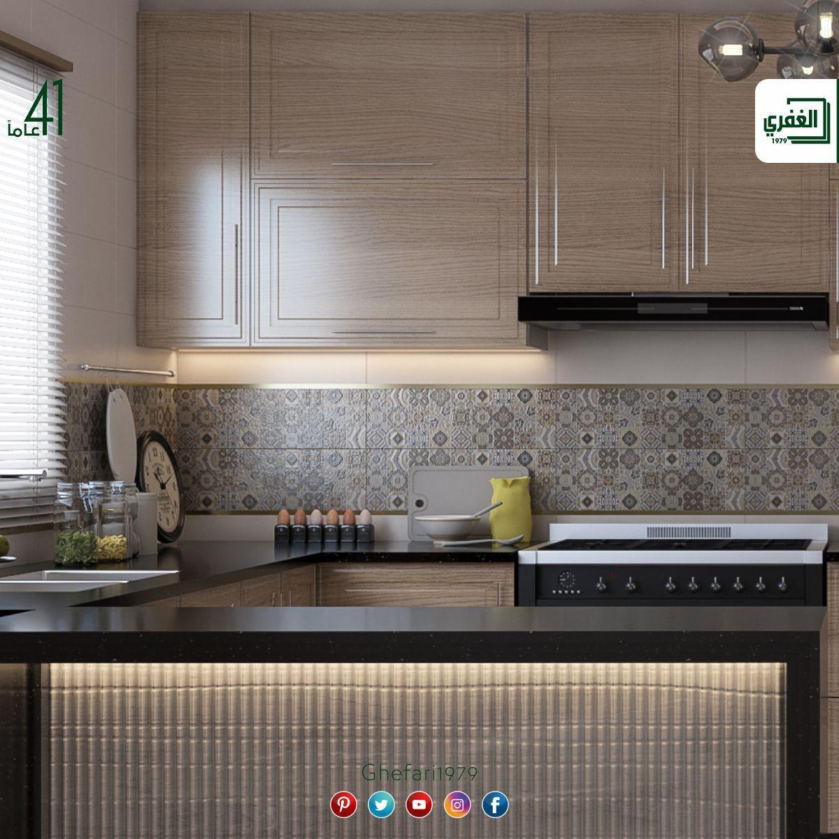 بلاط أسباني ديكور للاستخدام داخل الحمامات والمطابخ للمزيد زورونا على موقع الشركة Https Www Ghefari Com Ar Decor 20x60 وا Kitchen Cabinets Decor Kitchen