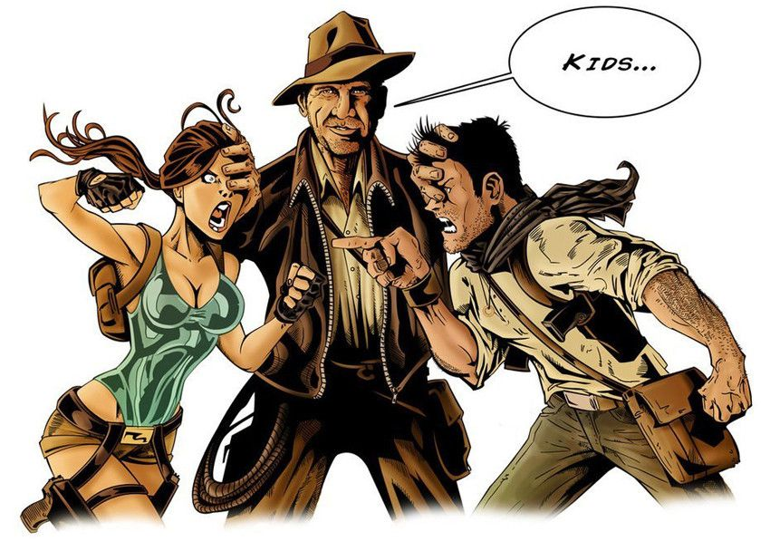 Lara Croft, Indiana Jones, Nathan Drake Possibly the best crossover! | Indiana  jones, Drake wallpapers, Nathan drake