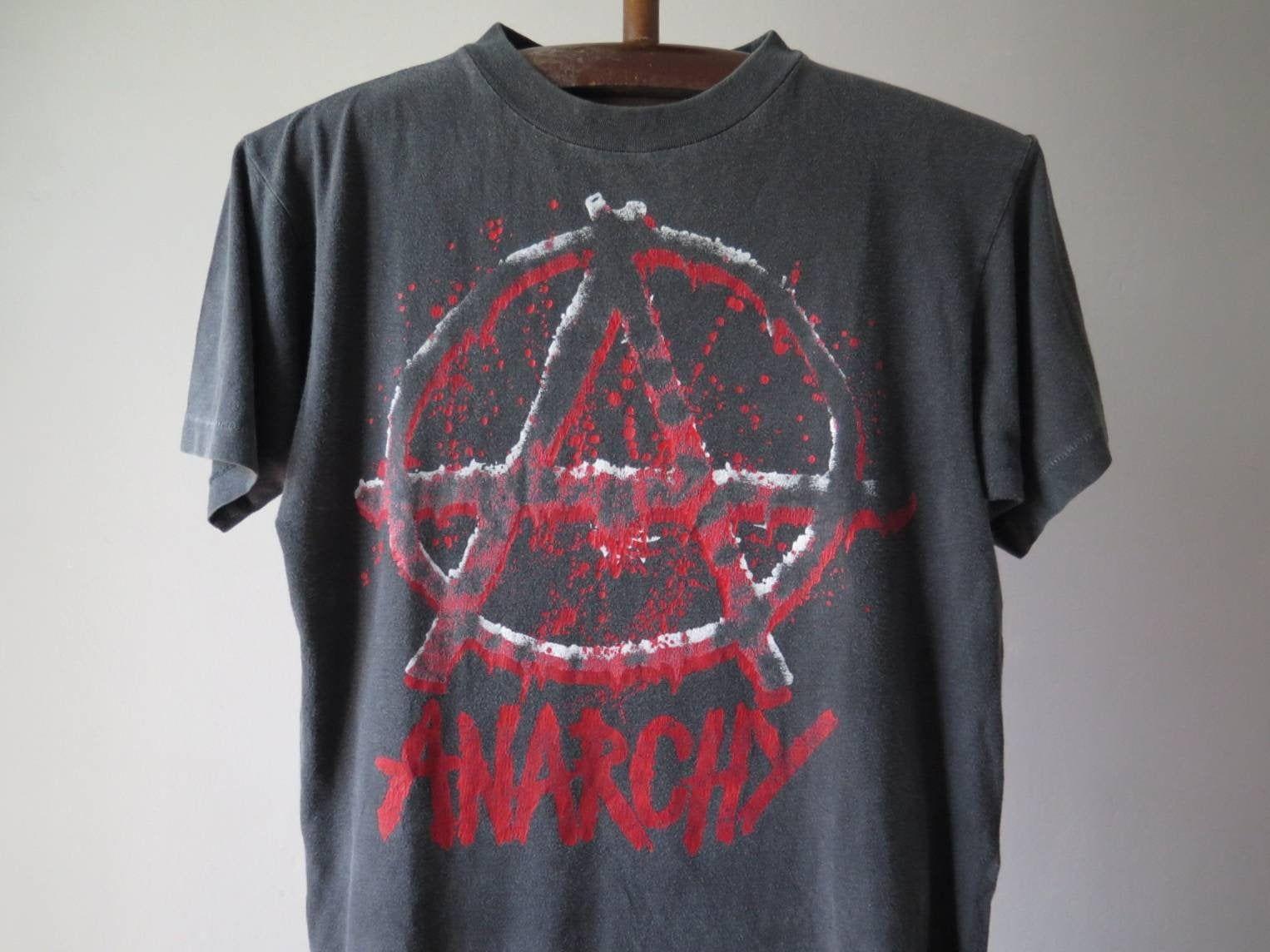 Vintage Anarchy T Shirt Anarchy Symbol T Shirt Anarchist Punk Etsy In 2021 Hippie T Shirts Punk Tshirt T Shirt