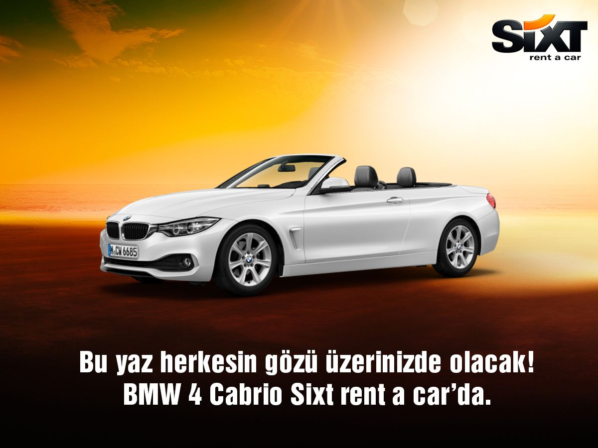 BMW 4 Cabriolar Sixt rent a car'da. Rezervasyon için; www