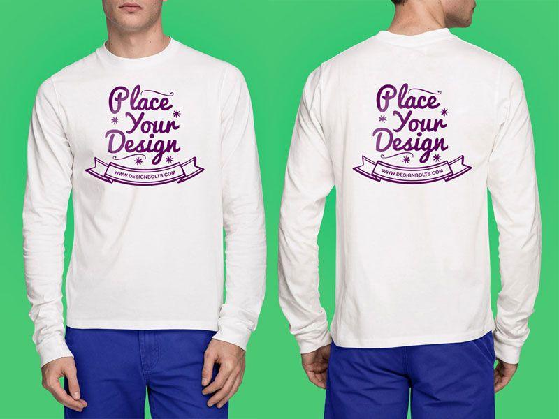 Download Long Sleeves T Shirt Mock Up Psd Shirt Mockup Tshirt Mockup Clothing Mockup