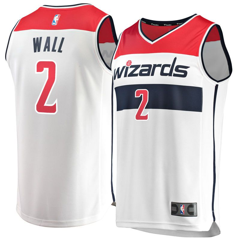 3035d7c0be36 John Wall Washington Wizards Fanatics Branded Youth Fast Break Replica  Jersey White - Association Edition