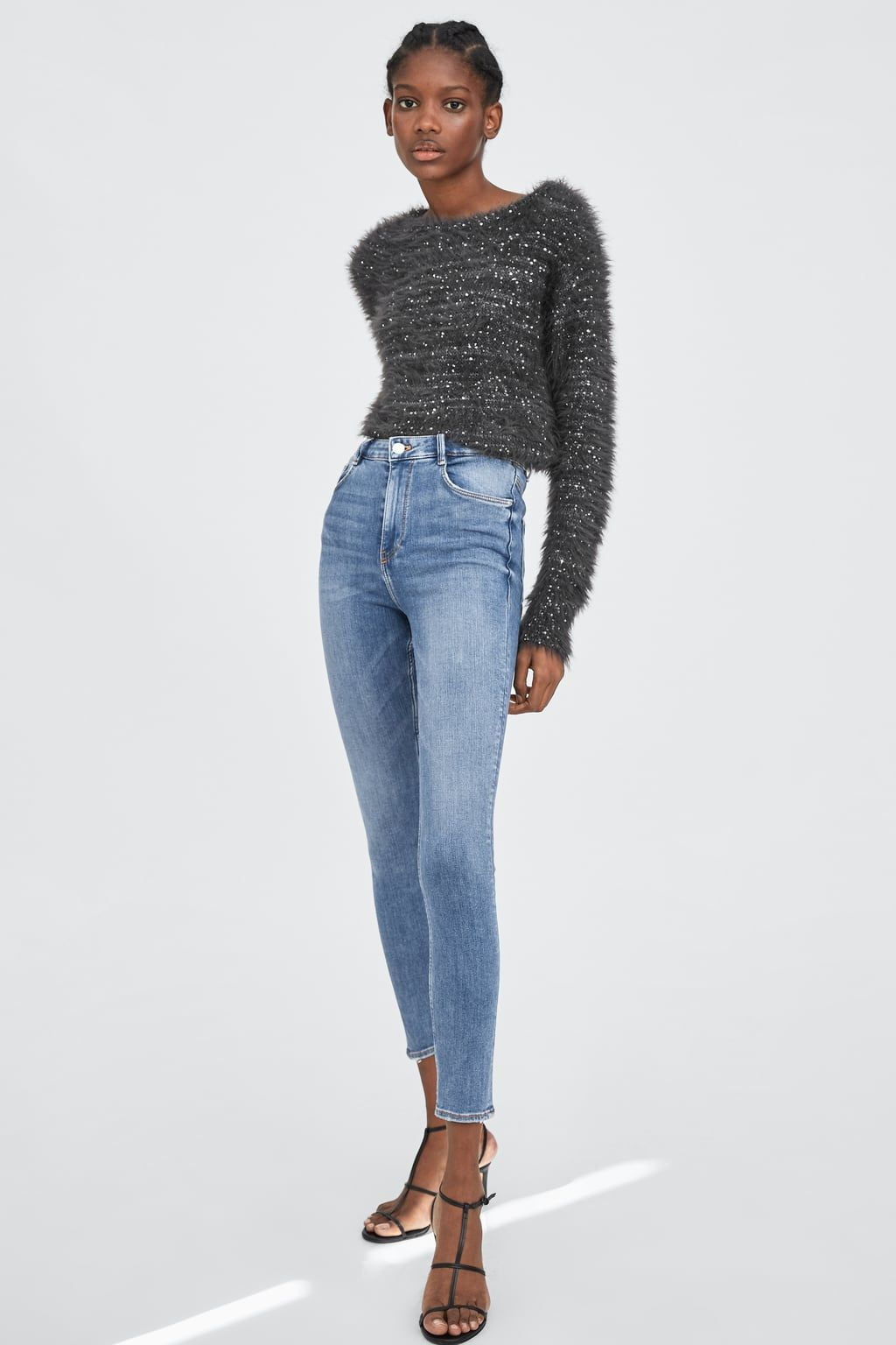 37eaa35114 Image 1 of PREMIUM HI-RISE SKINNY SCULPT JEANS from Zara | STYLE BEE ...