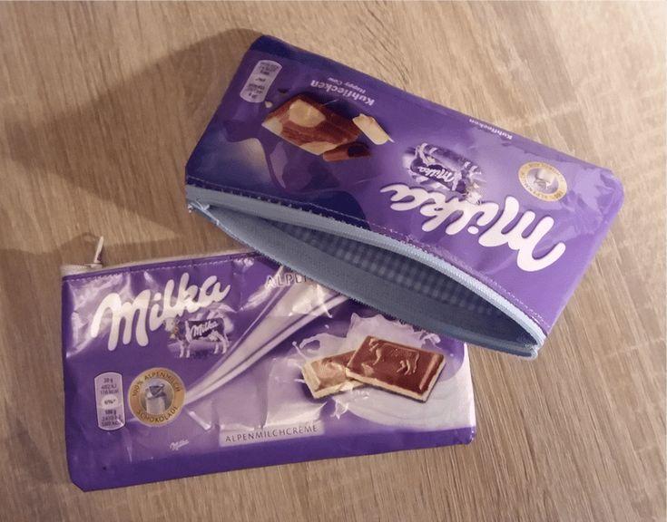 Instructions: Coudre un sac à fermeture éclair à partir de papier chocolat Milka – Freulein Linka   – NACHHALTIG NÄHEN